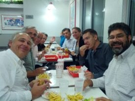 Wainhouse team celebrating successful UCC Summit over California cuisine at In-N-Out
